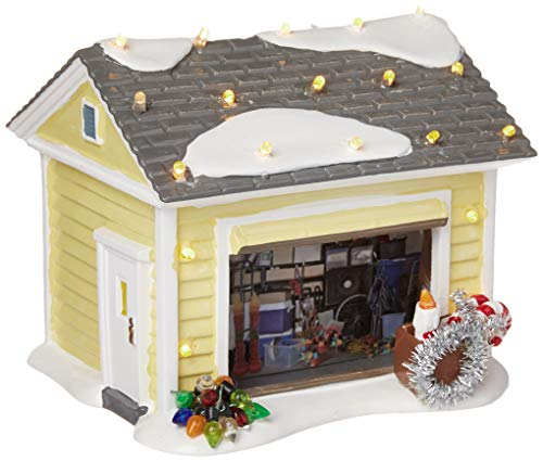 pretty ceramic christmas village houses with garage - Ceramic Christmas Houses