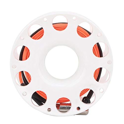 BOTEGRA 1 Carrete de Dedo de Buceo con Gancho en Forma de P de Doble Extremo, para Buceo en Cuevas(White Wheel)