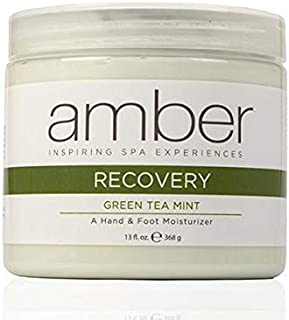 Amber Manicure & Pedicure Green Tea Mint Hand & Foot Recovery 13 oz