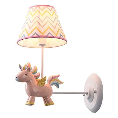zxb-shop Lámpara de Pared Los niños de la lámpara de habitación, de Noche la lámpara de Pared, Modernos Sala de Estar Lámpara de Pared Lámpara de Pared para Interiores (Color : Pink)