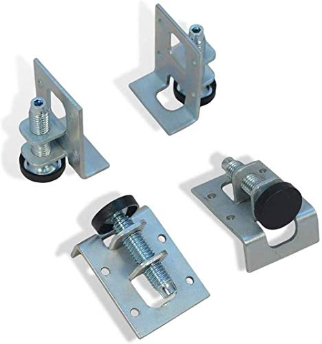 QYC Adjustable Furniture Feet,Adjustable Leveling Feet,Heavy Duty Furniture Legs Leveler,Baseboard Fixings,Threaded Feet with Mounts,for Furniture,Table,Cupboards,Workbench,Shelves Units,5x4x1cm,4Pcs