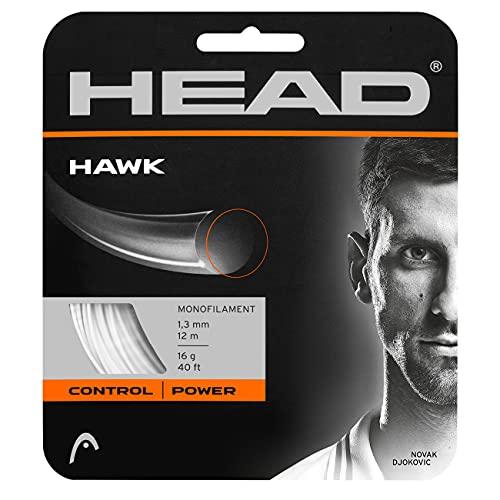 Head Hawk Cordajes de Raquetas de Tenis, Adultos Unisex, Blanco, 16