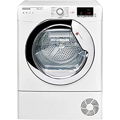 Hoover Dynamic Next DXWH11A2DCEXM Wifi Connected 11Kg Heat Pump Tumble Dryer - White / Chrome
