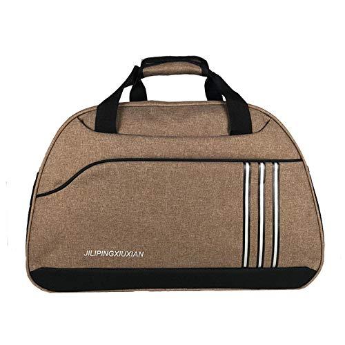 Clásico bolso de viaje de negocios para hombres impermeable equipaje de cabina bolso de mano maleta mujer gran ocio deportes fin de semana bolso de hombro-marrón
