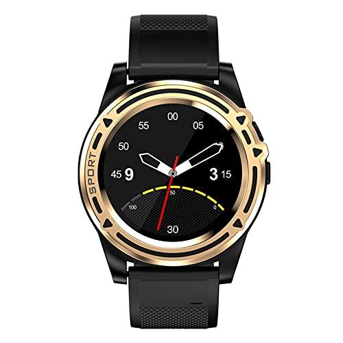 QFSLR Smartwatch Reloj Inteligente con Llamada Bluetooth Seguimiento del Sueño para Hombres Y Mujeres Reloj Deportivo,Oro