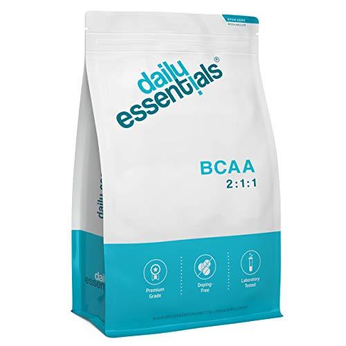 BCAA 2:1:1-500 Tabletten - 5000mg je Tagesportion - L-Leucin + L Isoleucin + L-Valin - Großpackung + Laborgeprüft, ohne Magnesiumstearat, hochdosiert, vegan und hergestellt in Deutschland