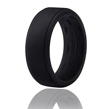 Silicone Wedding Ring, Slicone Ring for Men and Women, Premium Medical Grade Stackable Rubber Bands, Breathable Comfortable Fit & Skin Safe for Active Athletes, Workout, Military and Daily Time