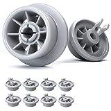 Ruedas lavavajillas de Plemont® - ruedas de lavavajillas para muchos comunes lavavajillas de Bosch, Siemens, Neff, etcétera - ruedas bandeja lavavajillas