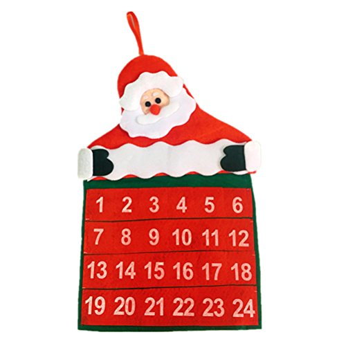 ULTNICE Countdown To Christmas Calendar Santa Claus Christmas Home Party Decoration