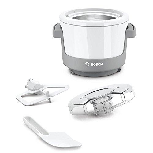 Bosch MUZXEB1 Lifestyle Set FrozenDreams mit Eisbereiter und Spritzschutzdeckel, Einfüllöffnung, weiß