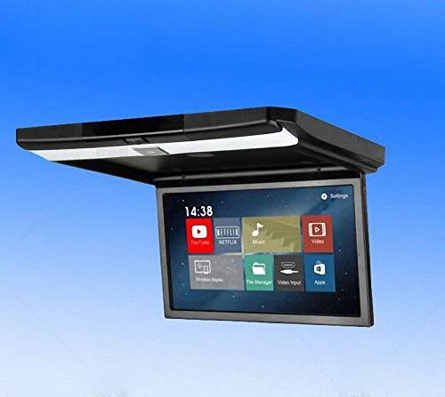 Écran de montage de toit de voiture, Flip Down Monitor lecteur HD 1080P lecteur vidéo écran large LCD affichage avec FM transmission USB HDMI entrée IR