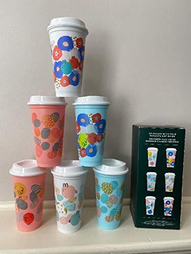 Starbucks 2020 Spring Limited Edition Set mit 6 wiederverwendbaren Heißbechern (je 450 ml)