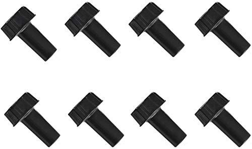 Paquete de 8 pomos de repuesto para interruptor de luz de encendido/apagado, color negro