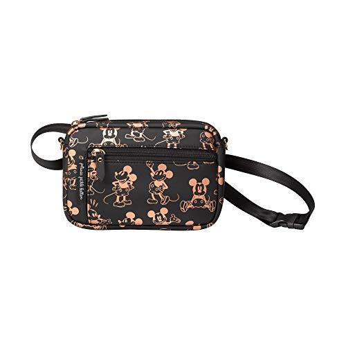 Petunia Pickle Bottom Belt Bag for Women | Metallic Mickey Mouse | Wristlet, Crossbody Strap, Waist Belt, Purse, Wallet | Versatile and Fashionable | Water Resistant