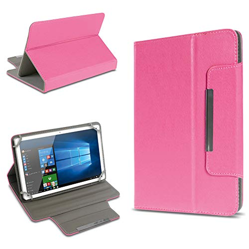 UC-Express Universal Tablet Tasche Schutz Hülle 10-10.1 Zoll Tablet Schutzhülle Tab Hülle Cover Farbauswahl Standfunktion, Farben:Pink, Tablet Modell für:Medion Lifetab X10300
