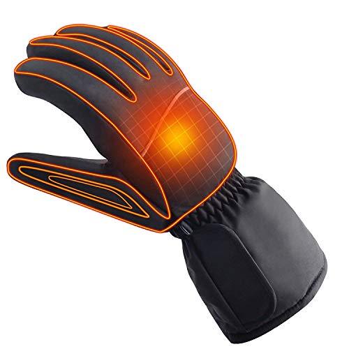 Azornic alimentato a batteria ricaricabile elettrico riscaldato guanti caldi invernali all' aperto guanti termici per uomo e donna, moto o bici equitazione scaldamani