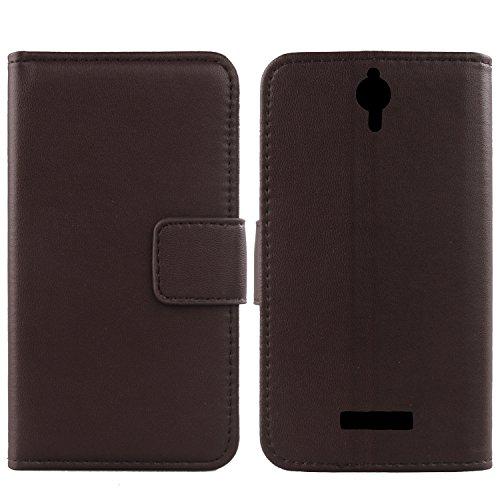 Gukas Design Echt Leder Tasche Für Archos 50D Oxygen 5