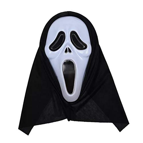 Máscara De Gritos, Accesorios De Disfraces De Fiesta Máscara De Fantasma De Zombie Dance De Juguete De Miedo