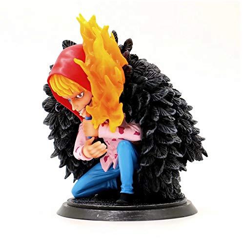 CLEARNICE One Piece Figura Corazon Figura De Acción Gk Doflamingo Brother Kids Gift Doll Juguetes Juguetes para Niños Modelo Anime Pg Dimensiones 17Cm