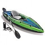 YMXLXL Kayak Hinchable para 1 Personas, con Bomba y Remo, Kayak de Mar, Piragua Hinchable, Carga Máxima de 90kg, Verde 274X76X33cm