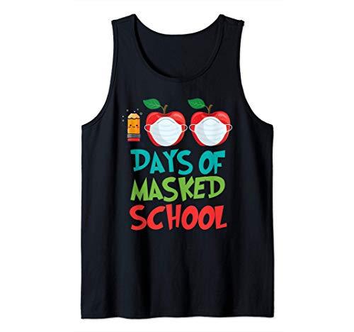 Camiseta 100 días de escuela maestro virtual remoto alumno Camiseta sin Mangas