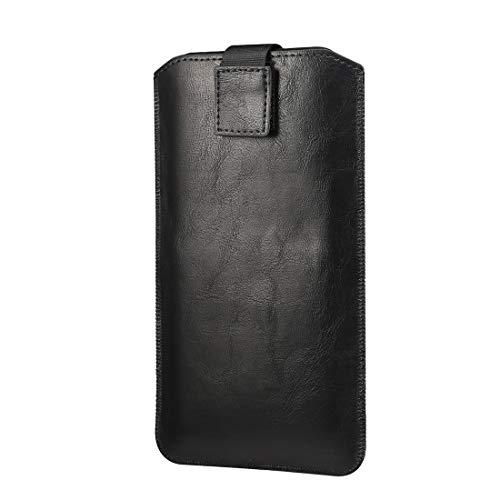 Adecuado para iPhone 7 Plus 8 Plus 6s Plus XR, cuero teléfono móvil bolsa iphone 11 Pro cinturón protección caso teléfono inteligente iphoneSE2020