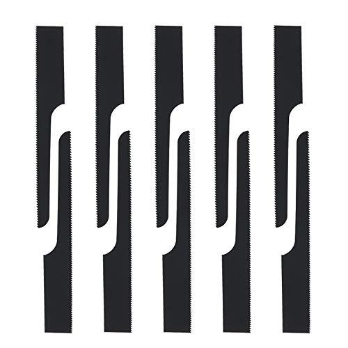 10-teilige Luftkörper Sägeblätter 24T 95 mm Schwarz Ersatz Hoch Bimetall Zentral Luftkörpersägeblätter Ersatzschneidwerkzeug für eine Vielzahl Materialien Schneiden