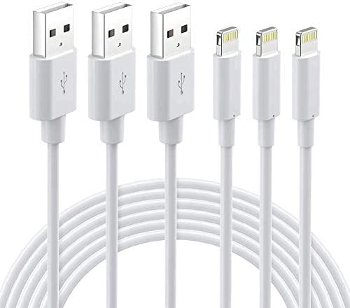 Lightning Cable MFi Certified iPhone Charger 3Pack 6ft Durable Lightning to USB A Charging Cable product image