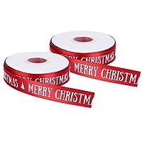 お祭り気分のためのメリークリスマスリボンホワイトメリークリスマスパターン