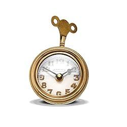 MY SWANKY HOME Retro Brass Pocket Watch Table Clock | Desk Vintage Antique Style Shelf Wind Key