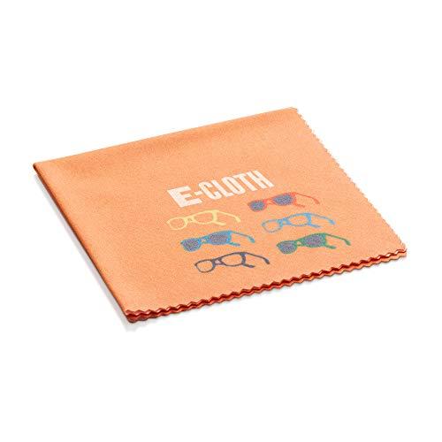 E-Cloth Chiffon de nettoyage pour lunettes, Microfibre, Orange, Pack de 1