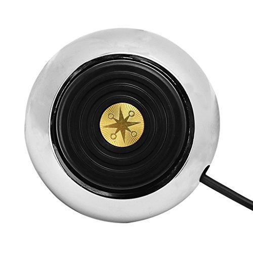 Gazechimp Interrupteur Pédale pour Machiner à Tatouer Alimentaion Electrique Interrupteur à Pied Rond en Acier Inox Antidérapant à Tatouage Outil Pro Tatoueur