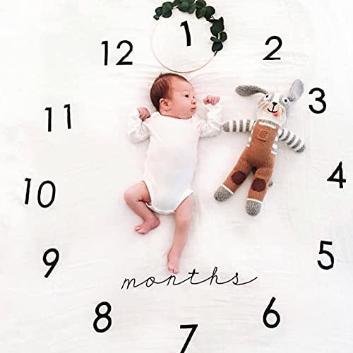 Bebé Mensualmente Manta Manta Muchacho/Cute Género Neutral Foto/Mes Manta para El Hito Recién Nacido Manta del Bebé/Mantas De Bebé para Niños Y Niñas Baby Boy Blanket Milestone1