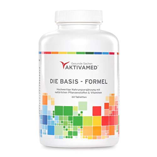 Multivitamin mit Vitamin C hochdosiert Premium Basis-Formel Aktivamed - Alle wertvollen Vitamine, Mineralien & Spurenelemente A-Z - 1 Monatspackung- kompletter B-Komplex + Vitamin D3, Metafolin & NAC