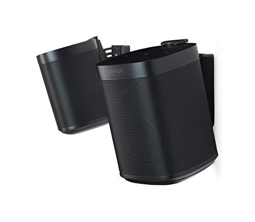 Flexson FLXS1WM2021 Väggfäste för Sonos One, One SL och Play:1, Svart Paket med 2