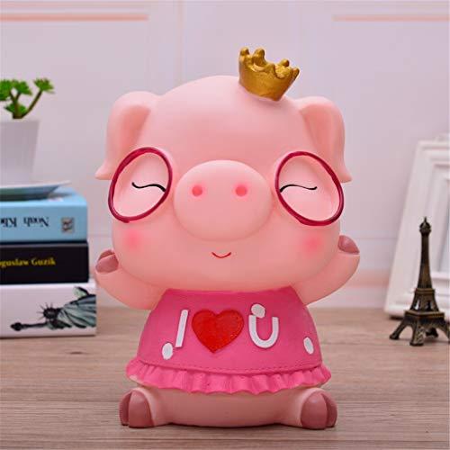Shounadai Grand Amour Cochon Tirelire incassable Changement de pièce de Monnaie tirelires canettes à Envoyer Cadeau Mignon pour Enfants (Color : B, Size : 22x15x15cm)