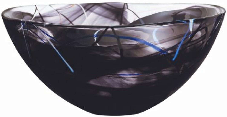 Kosta Boda Contrast Large Black Bowl
