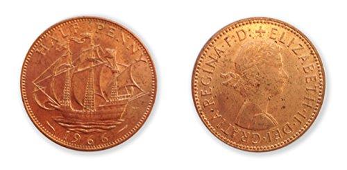 Münzen zum Sammeln - 1966 WeltpokalsiegerJahr uncirculated halben Cent-Münze / 1 / 2p Pence