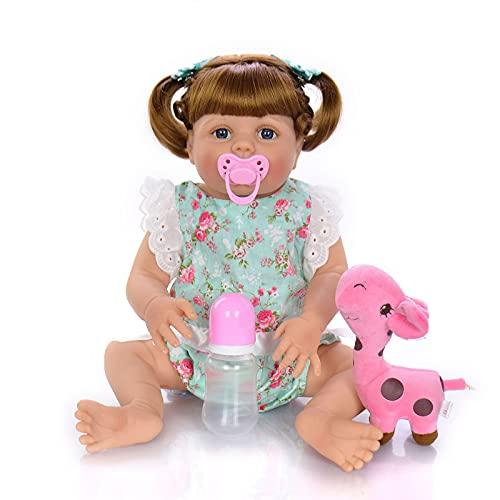 ZTLY La muñeca renacida, el Cuerpo de Silicona, el bebé Lindo, es un Buen Regalo, con una Hermosa Ropa de Ropa.