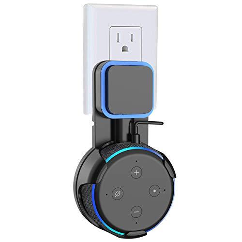 SPORTLINK Echo Dot 第3世代 ホルダー Dot 3 壁掛け ホルダー エコードット第三世代 スピーカー 保護ホルダー Dot 第3世代 壁掛け ホルダー コード収納 滑り止めゴム付き Dot3 スタンド スマート スピーカー ホルダー(ブラック)