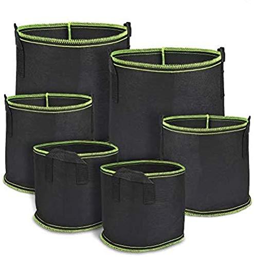 TIMESETL 6Pack Bag di Piante Non tessute galloni da 17,7 Litri riutilizzabili Sacchetto di Coltivazione vegetale Sacchetto di Patate Sacchetto di Piante con Manici per Patate, pomodori e Fragole