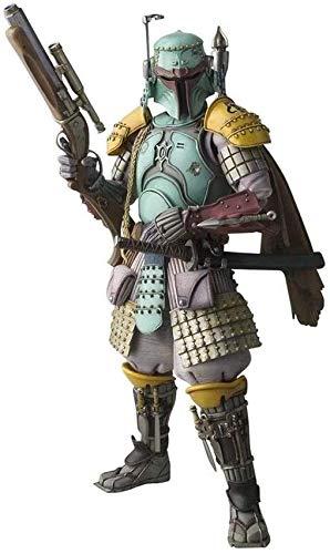 XMHL Realización de películas Star Wars Ronin Boba Fett Figura de Juguete PVC Figura de acción Pintada Estilo de Guerrero Modelos de Personajes de acción Estilo samurái japonés Modelo
