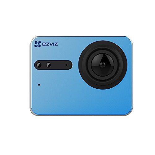 EZVIZ (di Hikvision)S5 Sport action camera 4K, 16 MP, Custodia Subacquea,Touch Screen, 2.4GHz, Doppio Microfono, Ingresso Scheda SD, Processore Video Ambarella