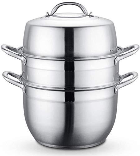 HYYDP Cacerolas Cocinar Sopa de Olla con Vapor, Olla y la Comida...