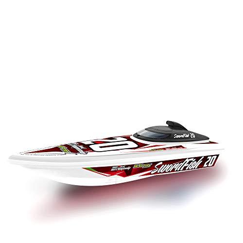 Re.El Toys Destriero Sport Rosso Radiocomando 3 Funzioni Barca Radiocomandata 622, Multicolore, 8001059014774