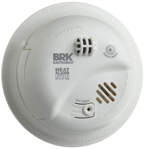 Hardwired Heat Alarm with Battery Backup, BRK Brands HD6135FB