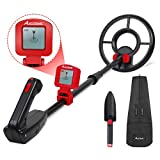 Metal Detector for Kids Treasure Hunting Juniors Metal Detectors with Adjustable Stem, LCD Display and Carrying Bag, AVID POWER