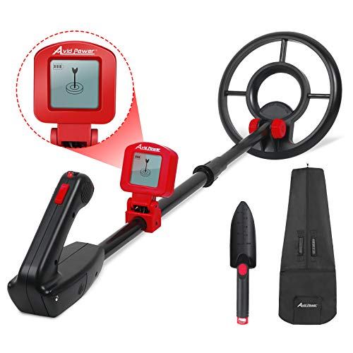 Avid Power Metal Detector for Kids Waterproof Juniors Treasure Hunting Adjustable Metal Detectors with LCD Display and Carrying Bag