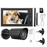 BTIHCEUOT Ensemble de caméra Infrarouge avec écran LCD 7 Pouces WiFi sans Fil 4CH et Carte TF pour l'affichage du...