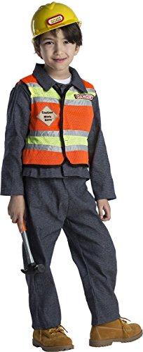 Dress Up America- Traje de nio de Trabajador de la construccin, Color 1, Talla 8-10 aos (Cintura: 76-82, Altura: 114-127 cm) (513-M+526)